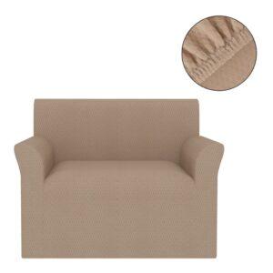 Capa extensível para sofá bege piqué - PORTES GRÁTIS