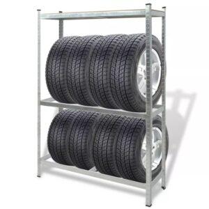 Estante para pneus 795 kg aço - PORTES GRÁTIS