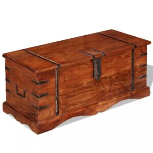 Arca de arrumação em madeira maciça - PORTES GRÁTIS