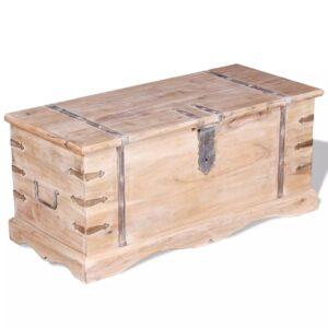Arca de arrumação, madeira maciça de acácia - PORTES GRÁTIS
