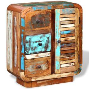 Aparador em madeira reciclada maciça - PORTES GRÁTIS