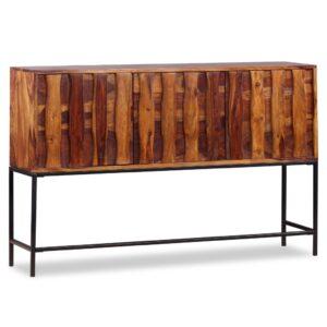 Aparador em madeira de sheesham maciça 120x30x80 cm - PORTES GRÁTIS