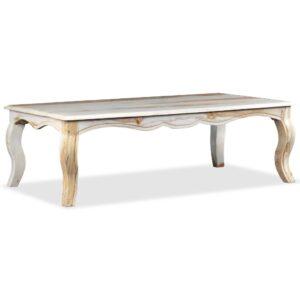 Mesa de centro madeira de sheesham maciça 110x60x35 cm - PORTES GRÁTIS