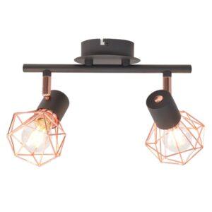 Candeeiro de teto com 2 lâmpadas filamentos LED 8 W - PORTES GRÁTIS