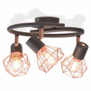 Candeeiro de teto com 3 lâmpadas filamentos LED 12 W - PORTES GRÁTIS