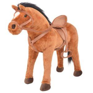 Cavalo de peluche de montar castanho - PORTES GRÁTIS