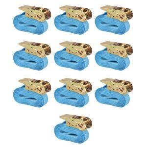 Cintas de fixação c/ roquete 10 pcs 0,8 toneladas 4mx25mm azul - PORTES GRÁTIS