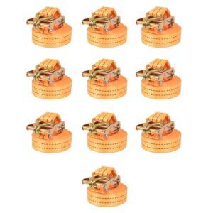 Cintas de fixação c/ roquete 10 pcs 1 tonelada 6mx38mm laranja - PORTES GRÁTIS
