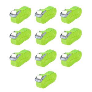 Cintas 10 pcs 0,25 toneladas 5mx25mm verde fluorescente - PORTES GRÁTIS