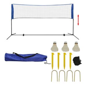 Conjunto rede de badminton com volantes 300 x 155 cm - PORTES GRÁTIS