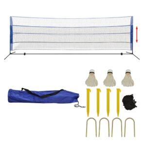 Conjunto rede de badminton com volantes 500 x 155 cm - PORTES GRÁTIS