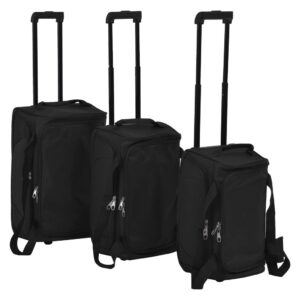 Conjunto de malas de viagem 3 pcs preto   - PORTES GRÁTIS