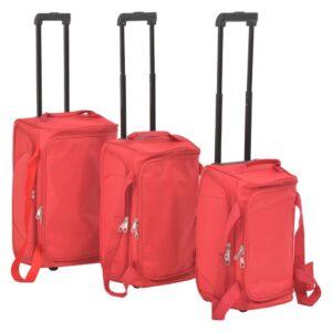 Conjunto de malas de viagem 3 pcs vermelho   - PORTES GRÁTIS
