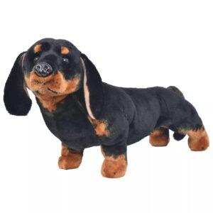 Brinquedo de montar cão salsicha peluche preto XXL - PORTES GRÁTIS