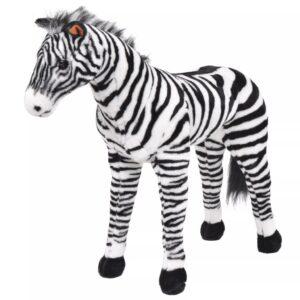 Brinquedo de montar zebra peluche preto e branco XXL - PORTES GRÁTIS