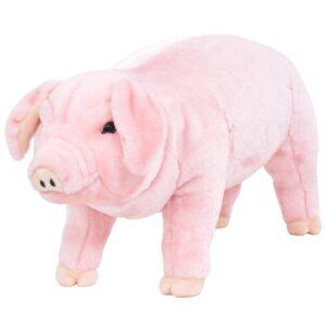 Brinquedo de montar porco peluche rosa XXL - PORTES GRÁTIS