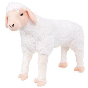 Brinquedo de montar ovelha peluche branco XXL - PORTES GRÁTIS