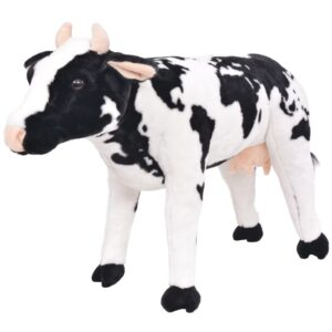 Brinquedo de montar vaca peluche preto e branco XXL     - PORTES GRÁTIS