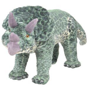 Brinquedo de montar dinossauro triceratops peluche verde XXL - PORTES GRÁTIS