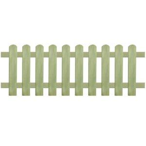 Cerca estacas 170x60 cm 6/9 cm madeira de pinho impregnada FSC - PORTES GRÁTIS