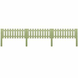 Cerca estacas 5,1 m 110 cm 6/9cm pinho impregnado FSC - PORTES GRÁTIS