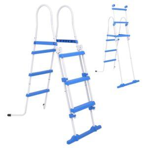 Escada segurança p/ piscina acima do solo 3 degraus 107 cm - PORTES GRÁTIS