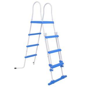 Escada segurança p/ piscina acima do solo 3 degraus 122 cm - PORTES GRÁTIS
