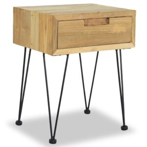 Mesa de cabeceira 40x30x50 cm teca maciça - PORTES GRÁTIS