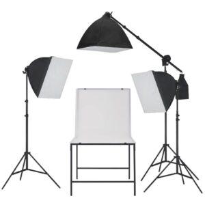 Kit estúdio fotográfico com iluminação softbox e mesa - PORTES GRÁTIS