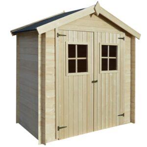 Abrigo de jardim 2x1 m 19 mm madeira - PORTES GRÁTIS