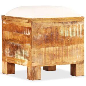 Banco de arrumação em madeira reciclada maciça 40x40x45 cm - PORTES GRÁTIS