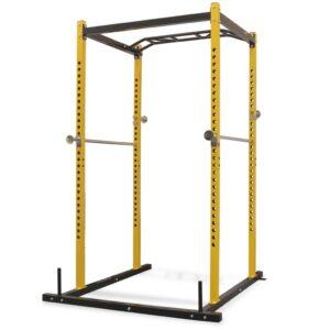 Torre de musculação 140x145x214 cm amarelo e preto - PORTES GRÁTIS
