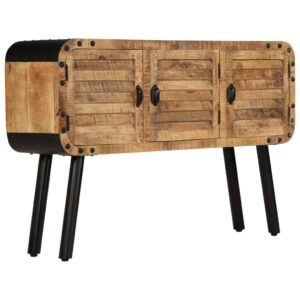 Aparador em madeira de mangueira maciça 120x30x76 cm - PORTES GRÁTIS