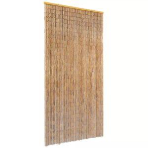 Cortina de porta anti-insetos em bambu 90x220 cm - PORTES GRÁTIS