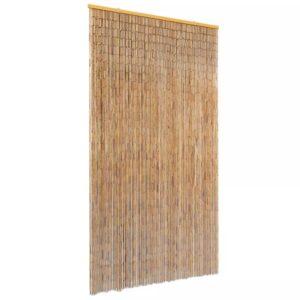 Cortina de porta anti-insetos em bambu 100x220 cm - PORTES GRÁTIS
