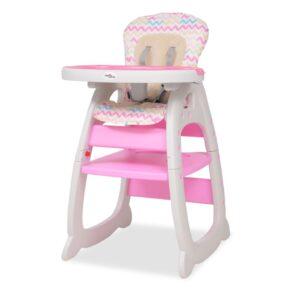 Cadeira de refeição conversível 3 em 1 com mesa rosa - PORTES GRÁTIS