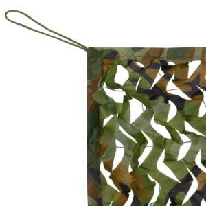 Rede de camuflagem com saco de armazenamento 4 mx 4 m - PORTES GRÁTIS