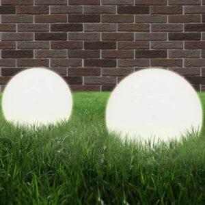 Candeeiros esféricos LED 2 pcs 20 cm PMMA - PORTES GRÁTIS