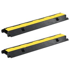 Rampas protetoras de cabos 2 pcs 1 canal borracha 100 cm  - PORTES GRÁTIS
