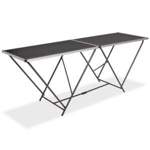 Mesa/bancada de trabalho dobrável MDF e alumínio 200x60x78 cm - PORTES GRÁTIS
