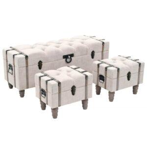Conjunto de bancos de arrumação 3 pcs madeira e aço 112x37x45cm - PORTES GRÁTIS