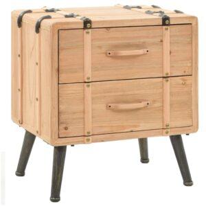 Mesa de cabeceira em madeira de abeto maciça 50x35x57 cm - PORTES GRÁTIS
