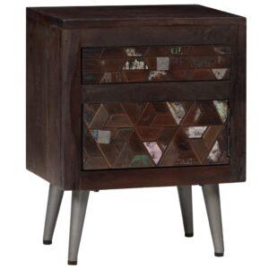 Mesa de cabeceira em madeira recuperada maciça 40x30x50 cm - PORTES GRÁTIS