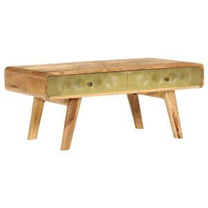 Mesa de centro madeira de mangueira maciça 90x50x40 cm - PORTES GRÁTIS