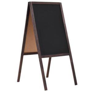 Quadro negro vertical de dupla face em madeira de cedro 40x60cm - PORTES GRÁTIS