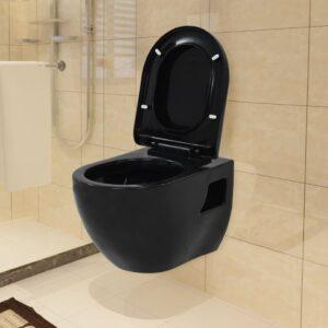 143023 Sanita de cerâmica preta - PORTES GRÁTIS