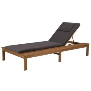 Espreguiçadeira com almofadão madeira acácia maciça - PORTES GRÁTIS