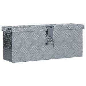 Caixa de alumínio 48,5x14x20 cm prateado - PORTES GRÁTIS