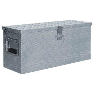 Caixa de alumínio 76,5x26,5x33 cm prateado - PORTES GRÁTIS
