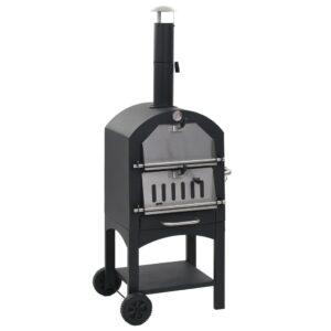 Forno de pizzas a carvão para jardim c/ pedra refratária - PORTES GRÁTIS